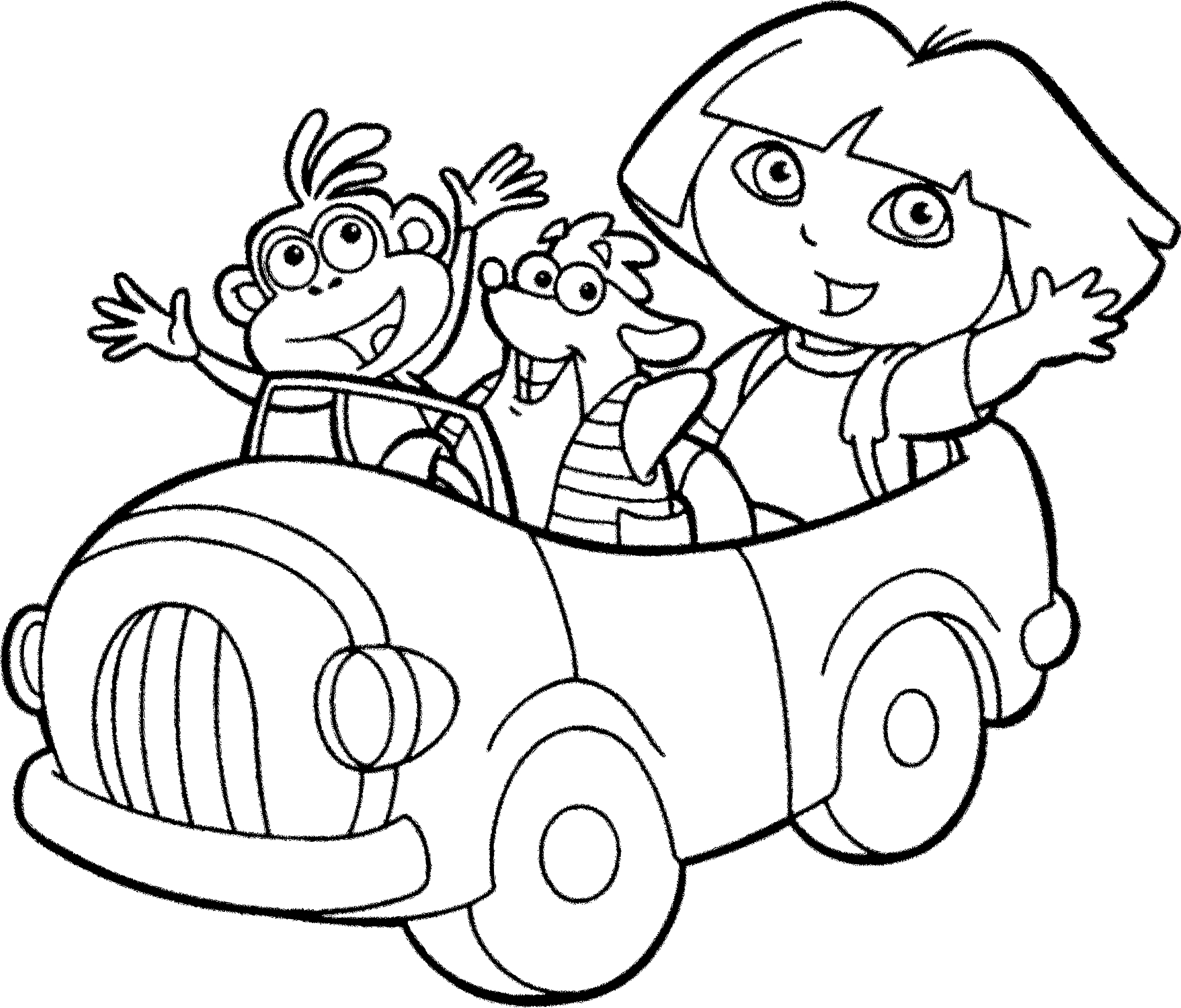 mermaid coloring pages - coloriage dora lexploratrice en voiture