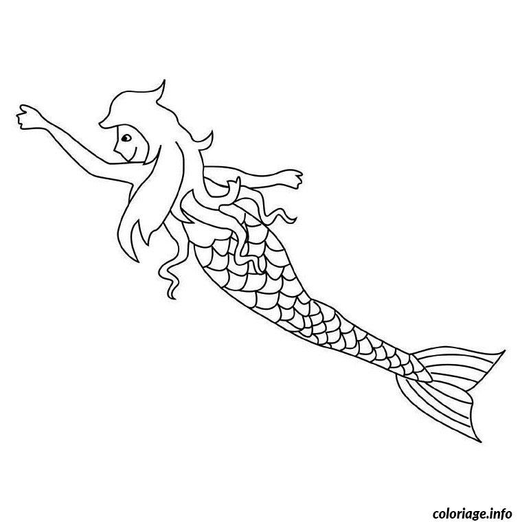 mermaid coloring pages - sirene et dauphin coloriage dessin