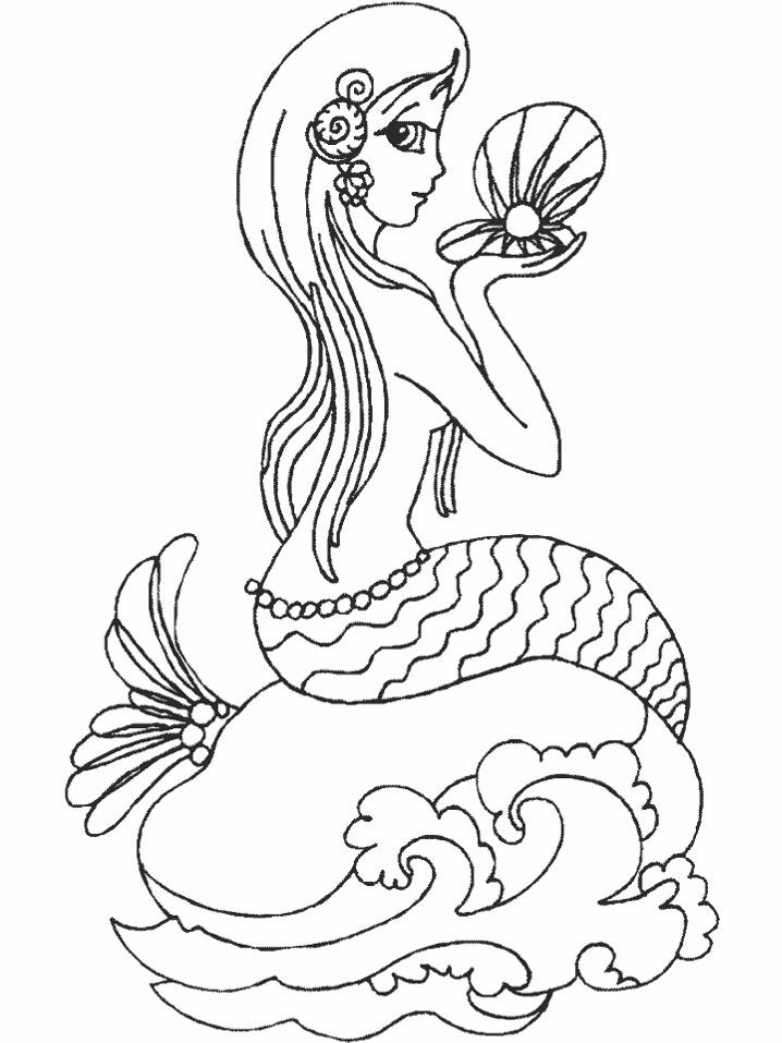mermaid coloring pages to print - mermaid coloring pages