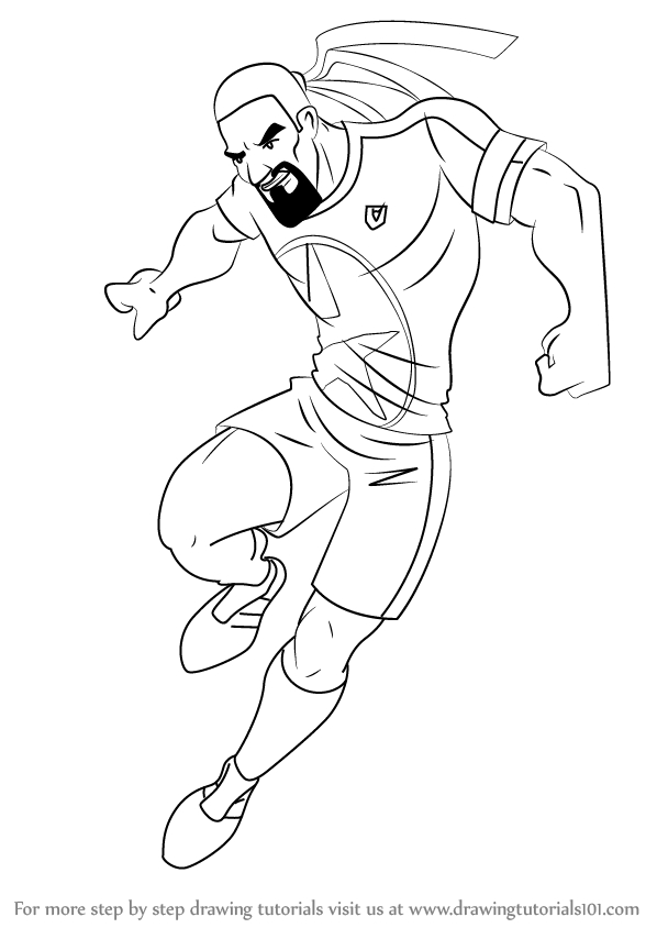 messi coloring pages - how to draw dancing rasta from supa strikas