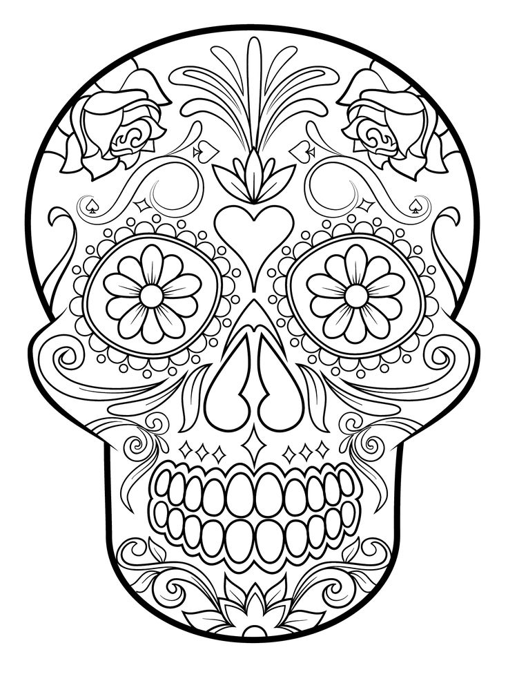 mexico coloring pages - calaveras para colorear