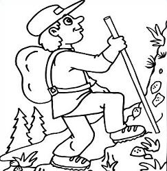 mexico coloring pages - hiking clipart image