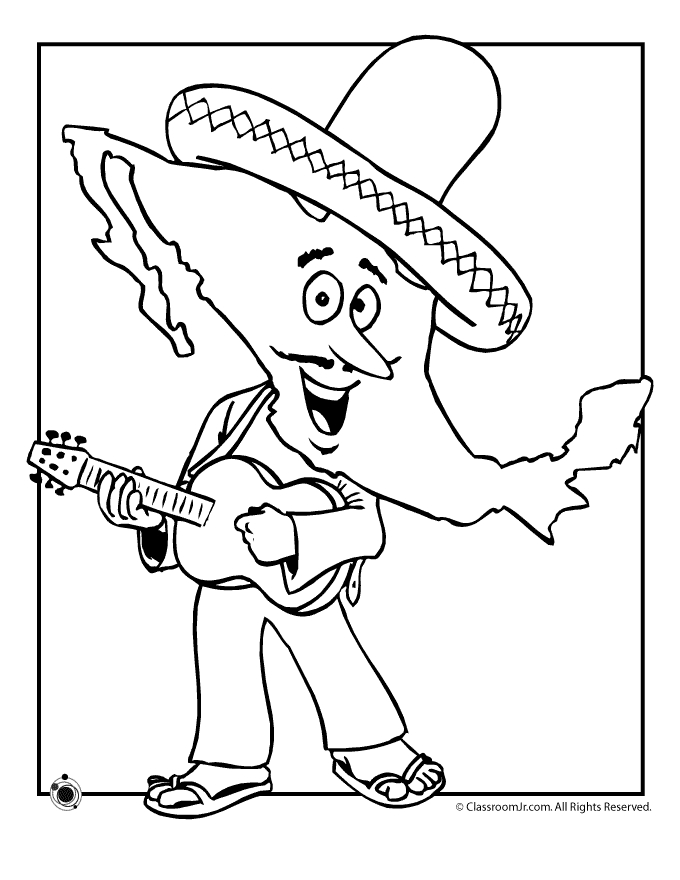 mexico coloring pages - mexican independence day coloring pages