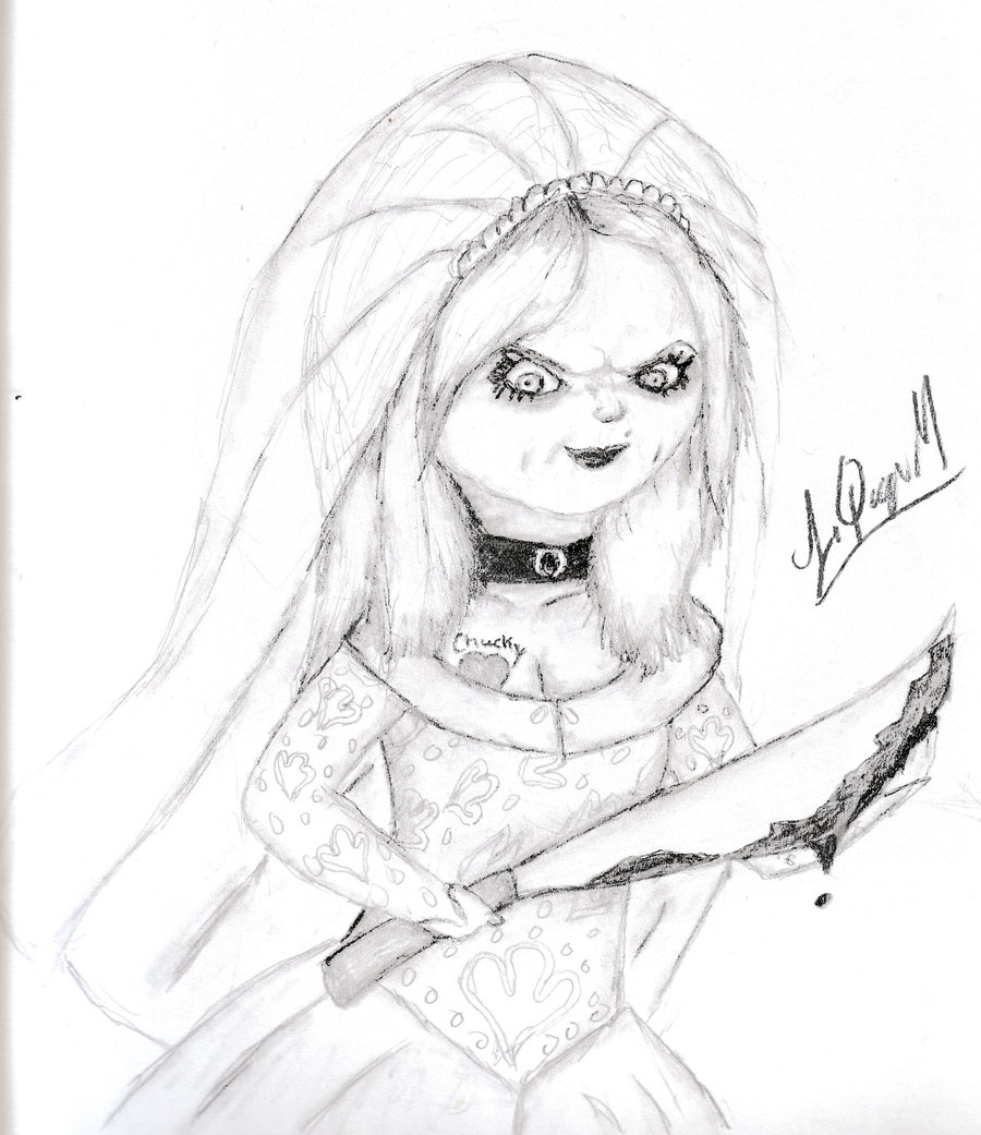 michael myers coloring pages - Chucky s bride 2