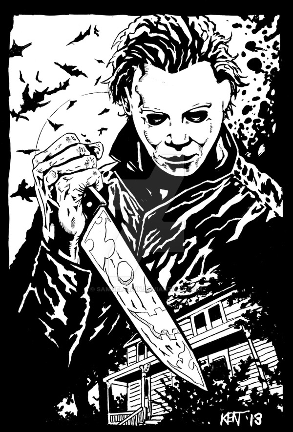 michael myers coloring pages - Halloween