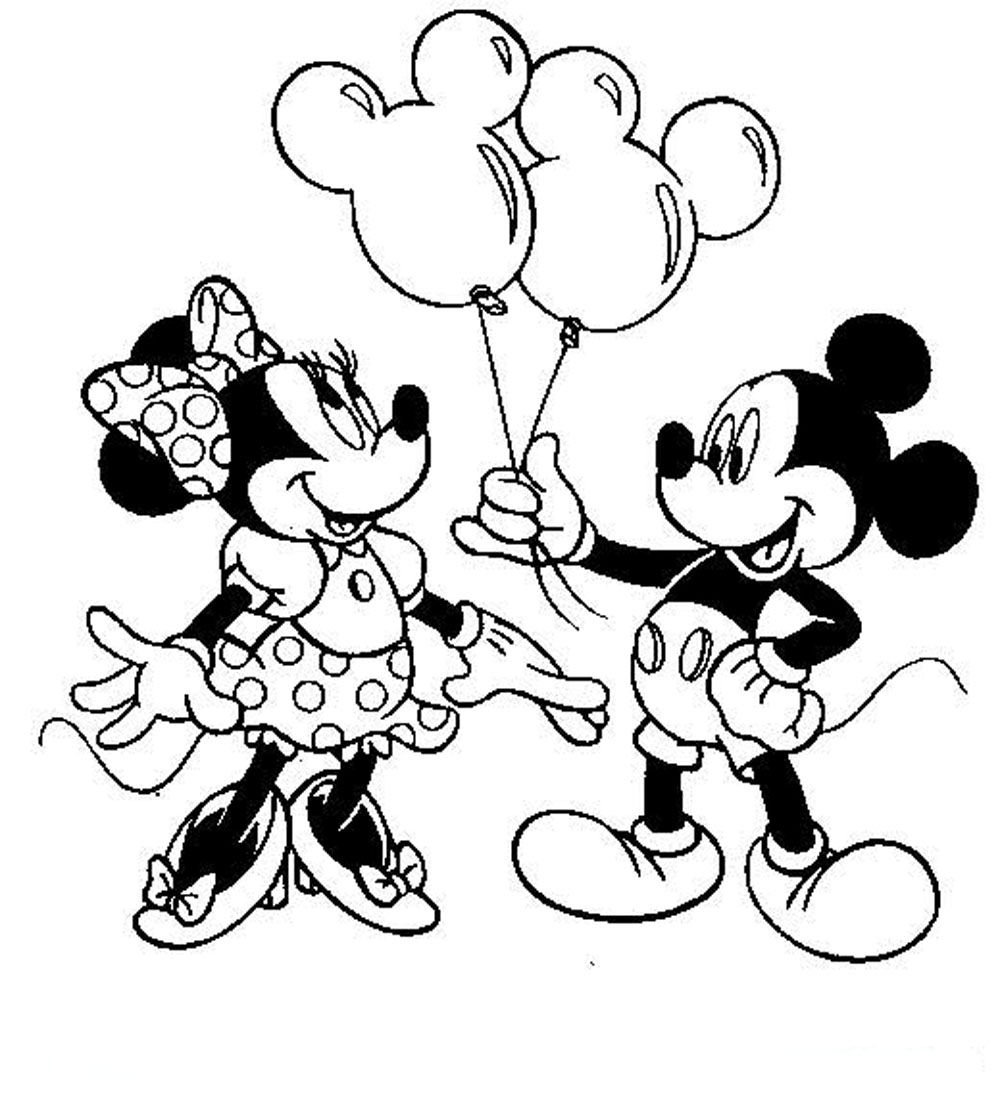 mickey and minnie coloring pages - free disney minnie mouse coloring pages