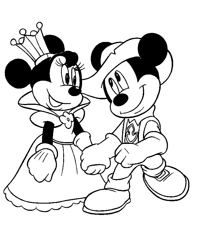 mickey and minnie coloring pages - minnie mouse coloring pages