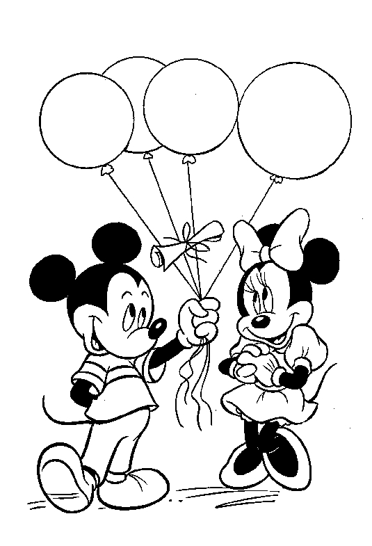 mickey and minnie mouse coloring pages - mickey and minnie mouse coloring pages