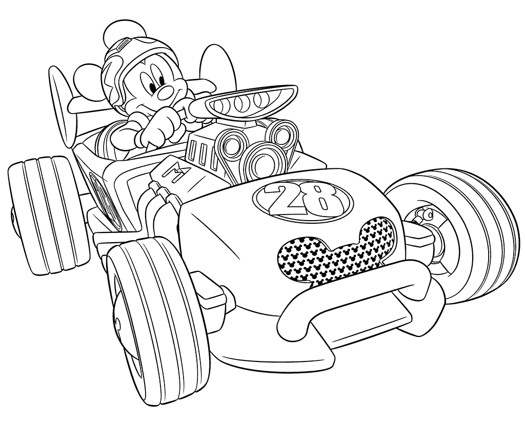 Mickey and the Roadster Racers Coloring Pages - Mickey and the Roadster Racers Coloring Pages