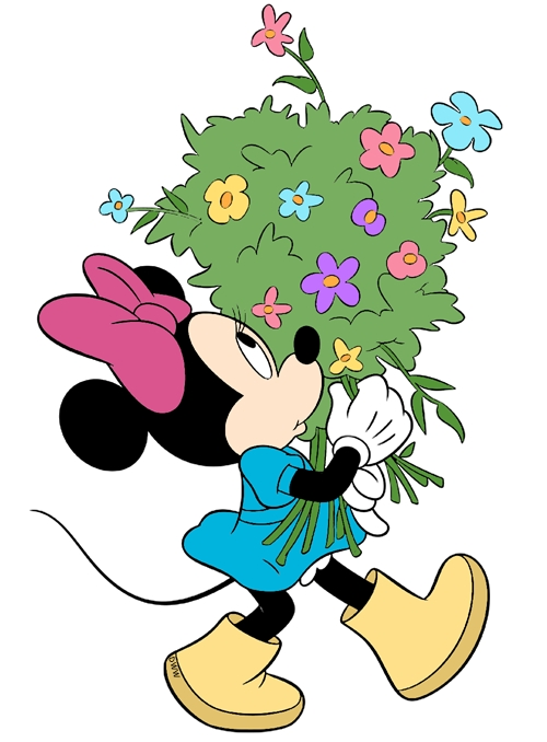 mickey coloring pages - springtime