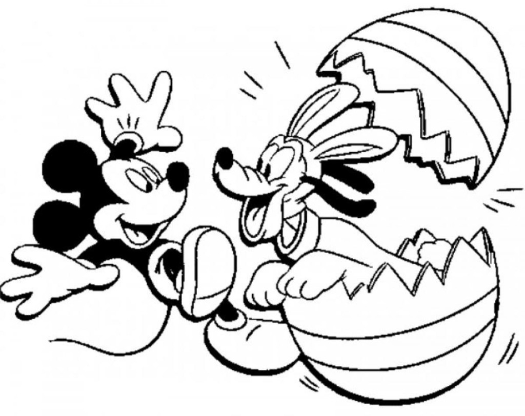 Mickey Coloring Pages - Pluto and Mickey Mouse Clubhouse Coloring Pages