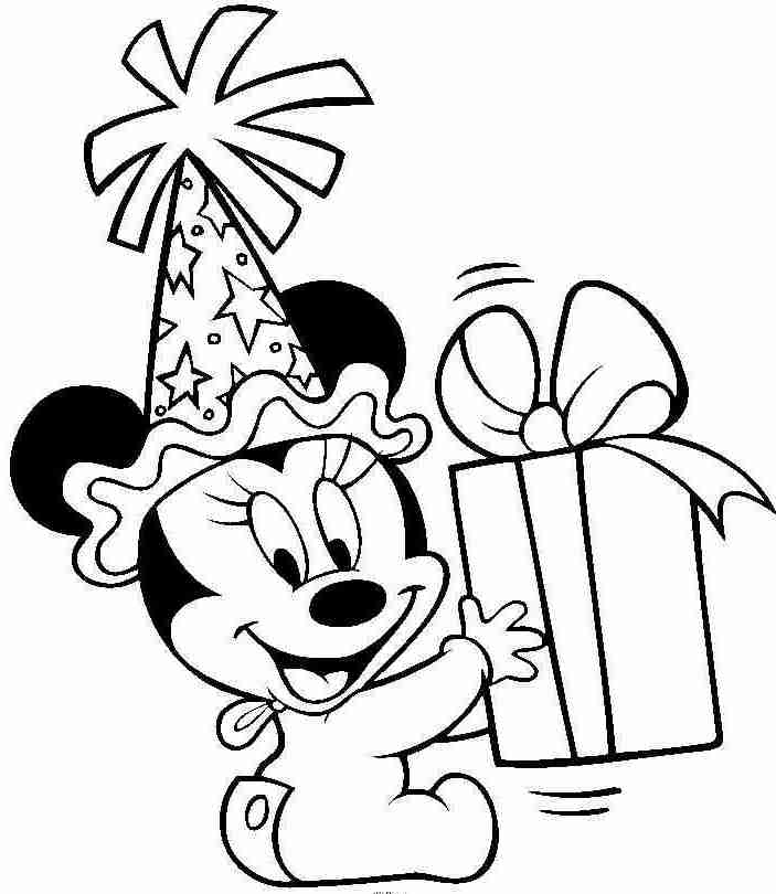 mickey mouse birthday coloring pages - myszka