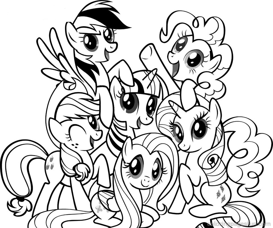 mickey mouse birthday coloring pages - my little pony coloring pages coloring pages for girls 17 printable coloring pages