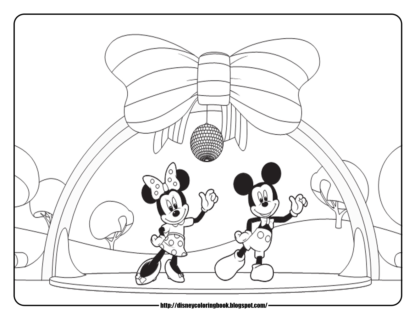 mickey mouse clubhouse coloring pages - disneycoloringbook