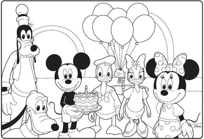 mickey mouse clubhouse coloring pages -
