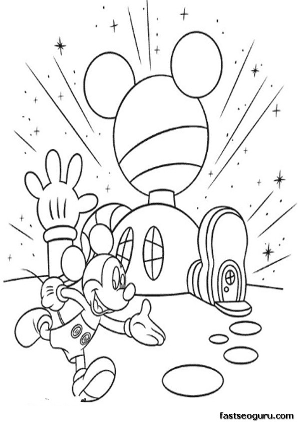 mickey mouse clubhouse coloring pages - printable coloring pages mickey mouse clubhouse