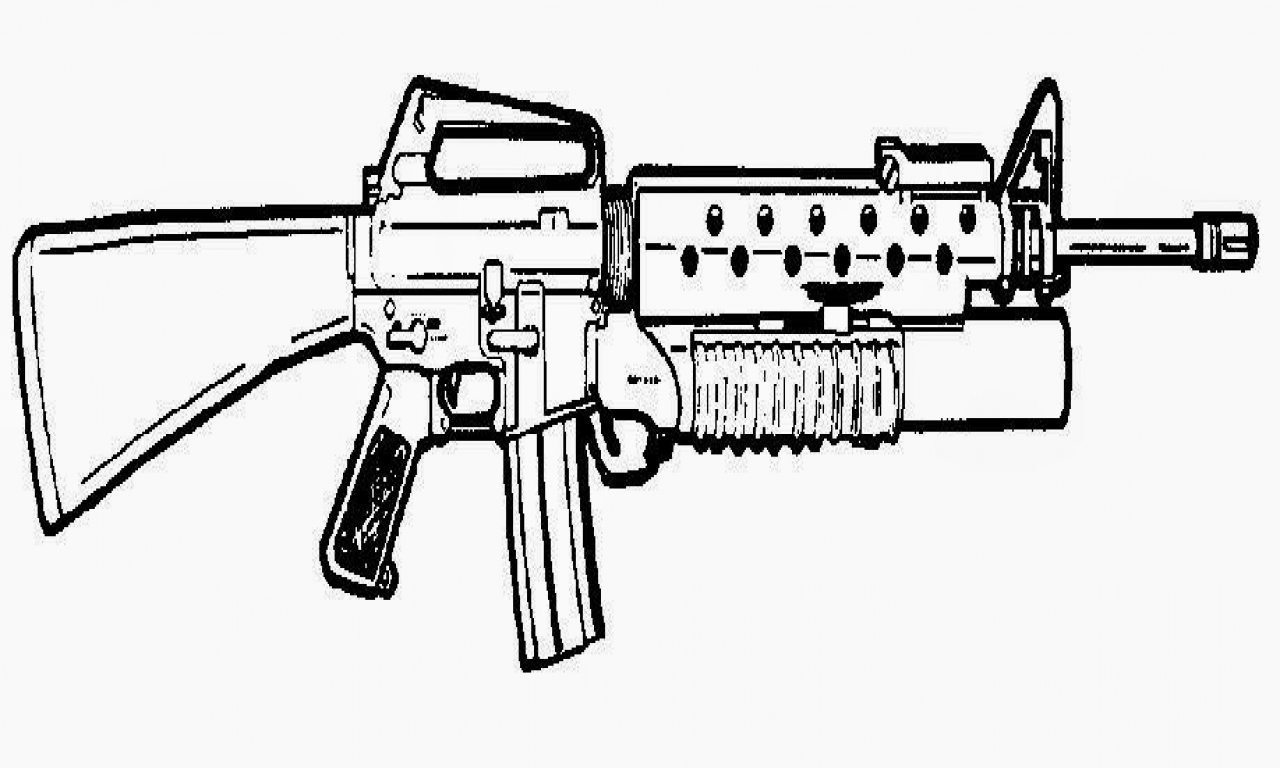 Famous Machine Gun Coloring Pages Photo - Examples Professional ...