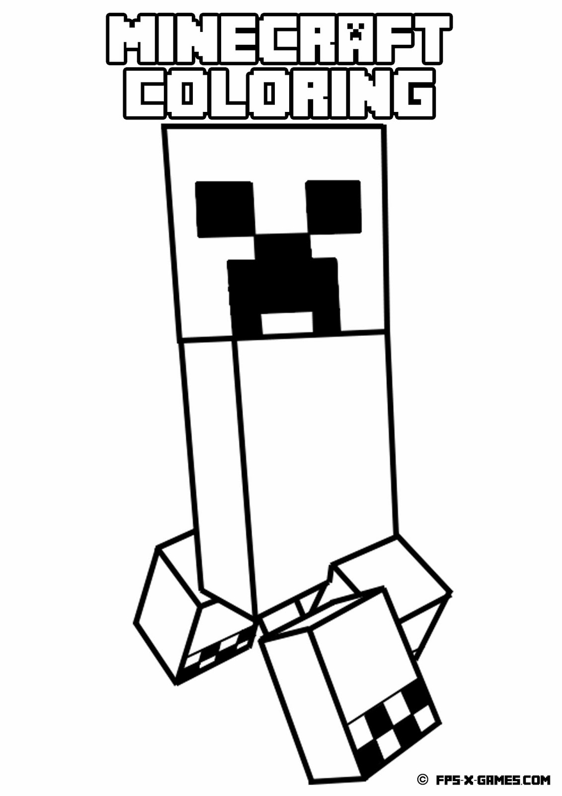 minecraft coloring pages - q=big minecraft zombies