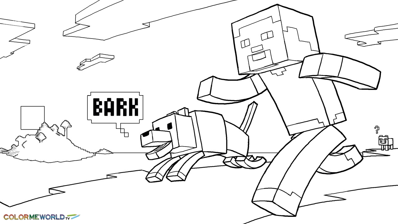 minecraft coloring pages - minecraft coloring pages 458