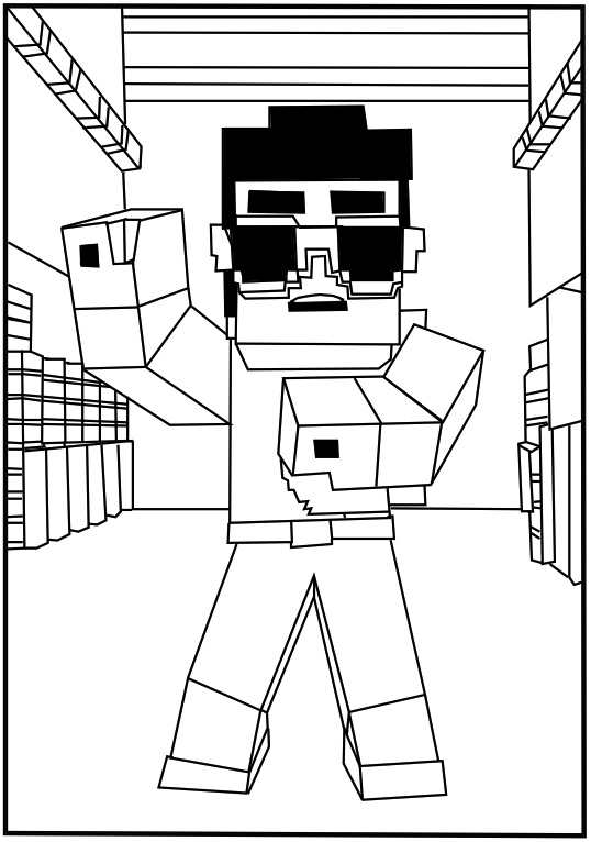 minecraft coloring pages - minecraft coloring pages