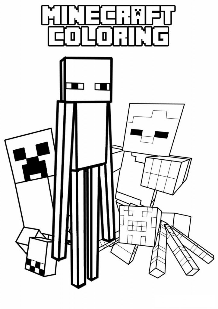 minecraft coloring pages - printable minecraft coloring pages