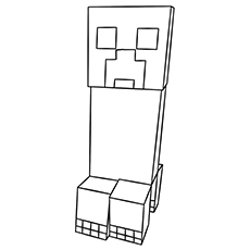 minecraft creeper coloring page - minecraft coloring pages