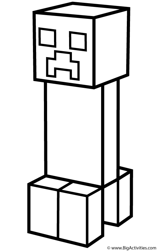 Minecraft Creeper Coloring Page - Creeper Coloring Page Minecraft