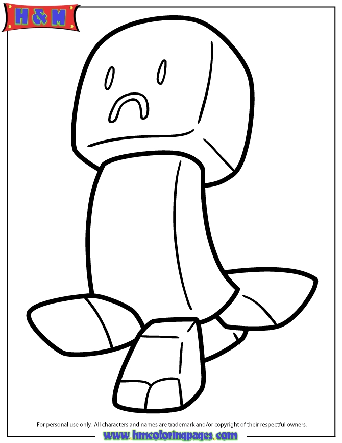minecraft creeper coloring page - s=mine craft creeper