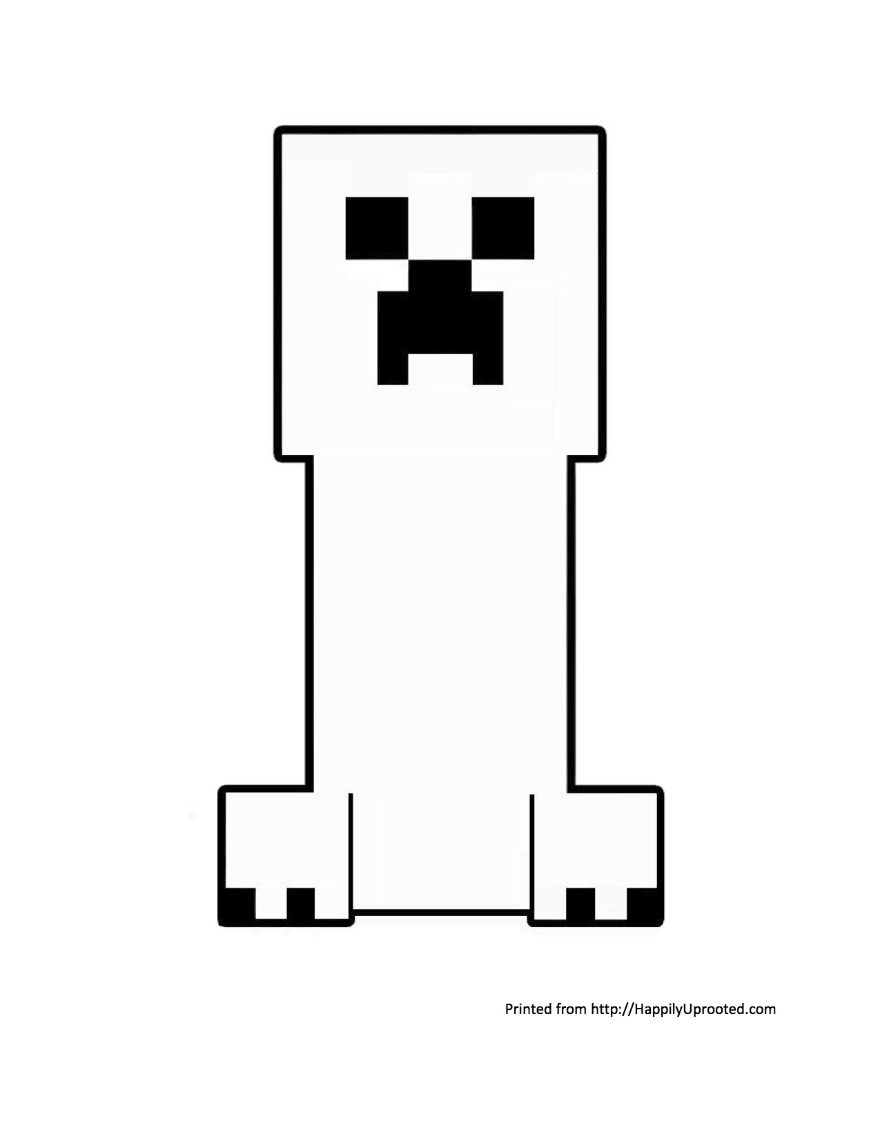 minecraft creeper coloring page - minecraft creeper coloring page