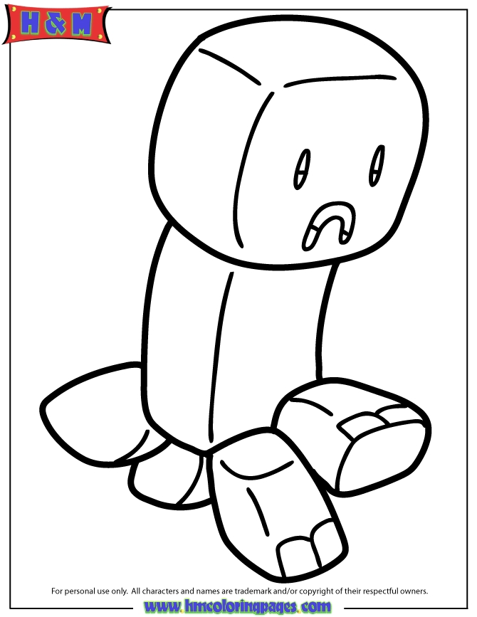 minecraft creeper coloring page - minecraft creeper