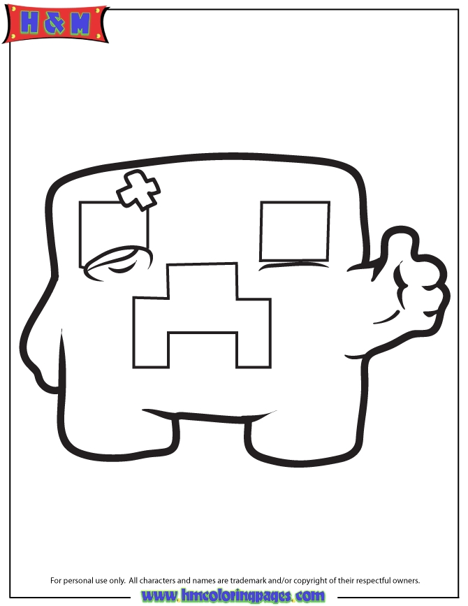 minecraft creeper coloring page - minecraft creeper sketch templates