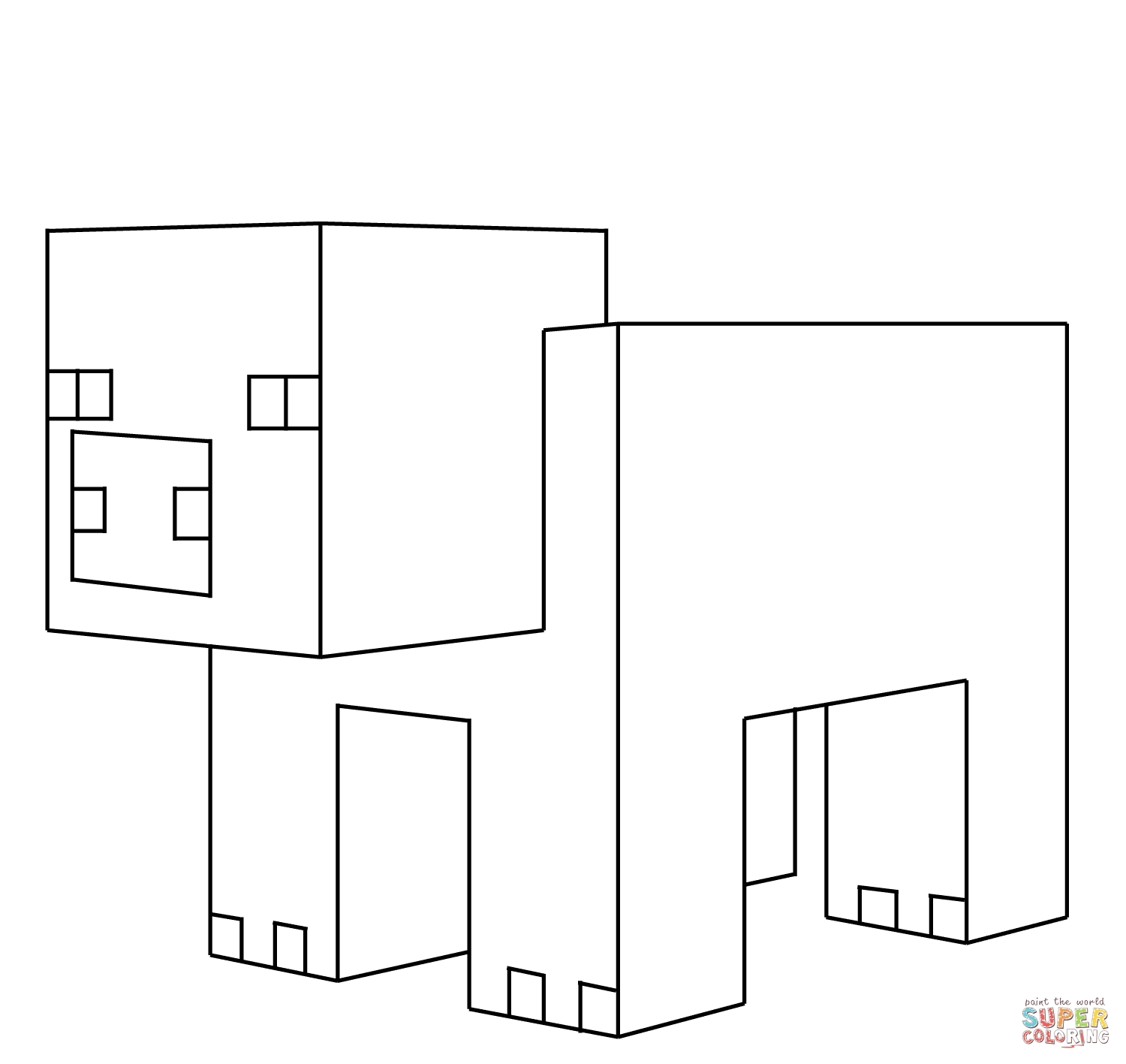 minecraft creeper coloring page - minecraft creeper coloring pages dowmload image