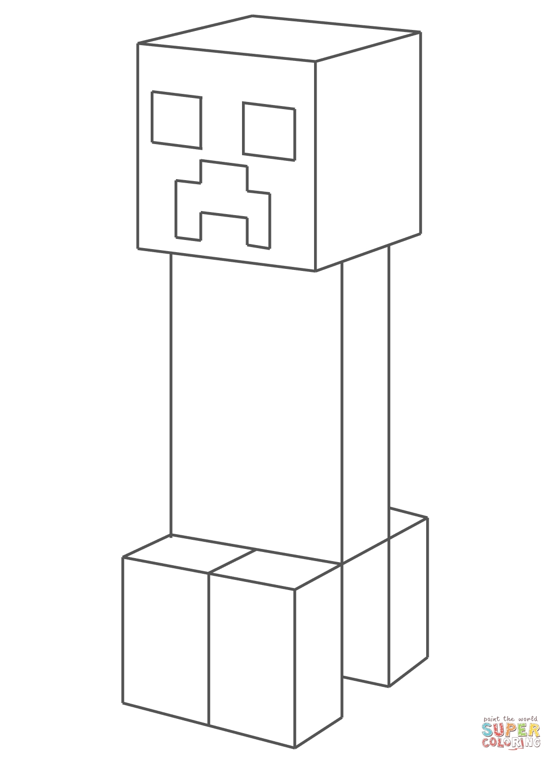 minecraft creeper coloring page - minecraft creeper coloring pages