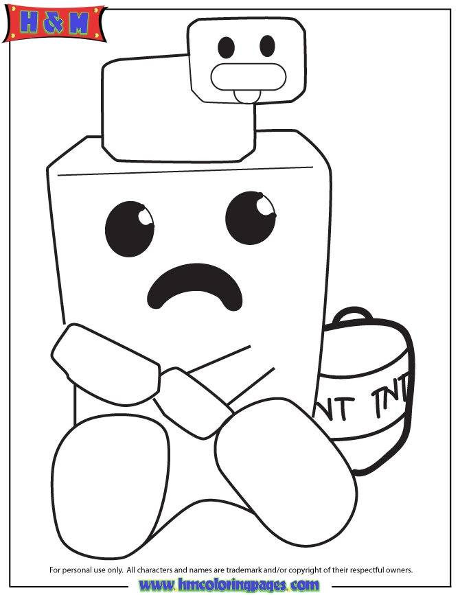 minecraft creeper coloring page - minecraft duck on top of cute creeper