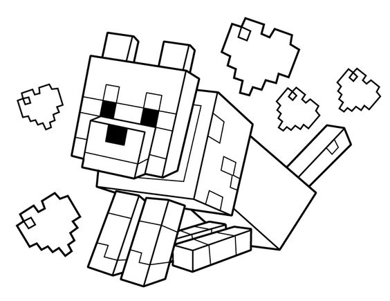minecraft creeper coloring page - minecraft printable coloring pages