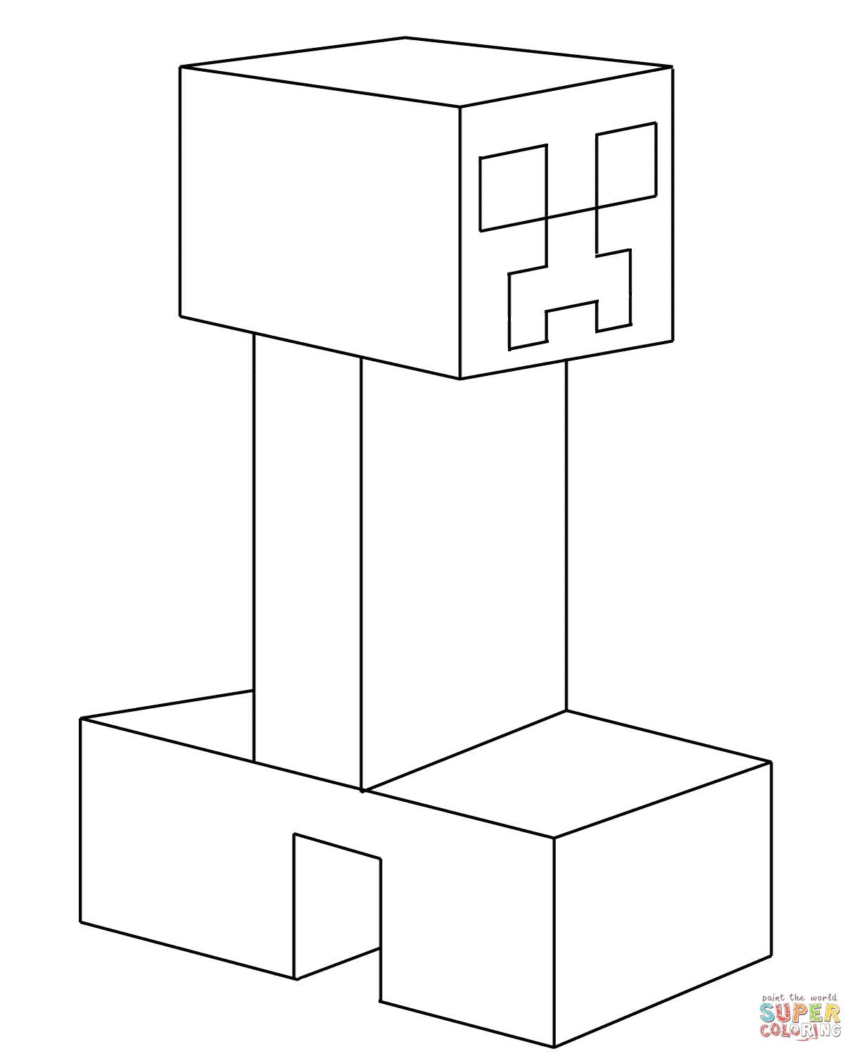 minecraft creeper coloring page - click the minecraft ocelot coloring