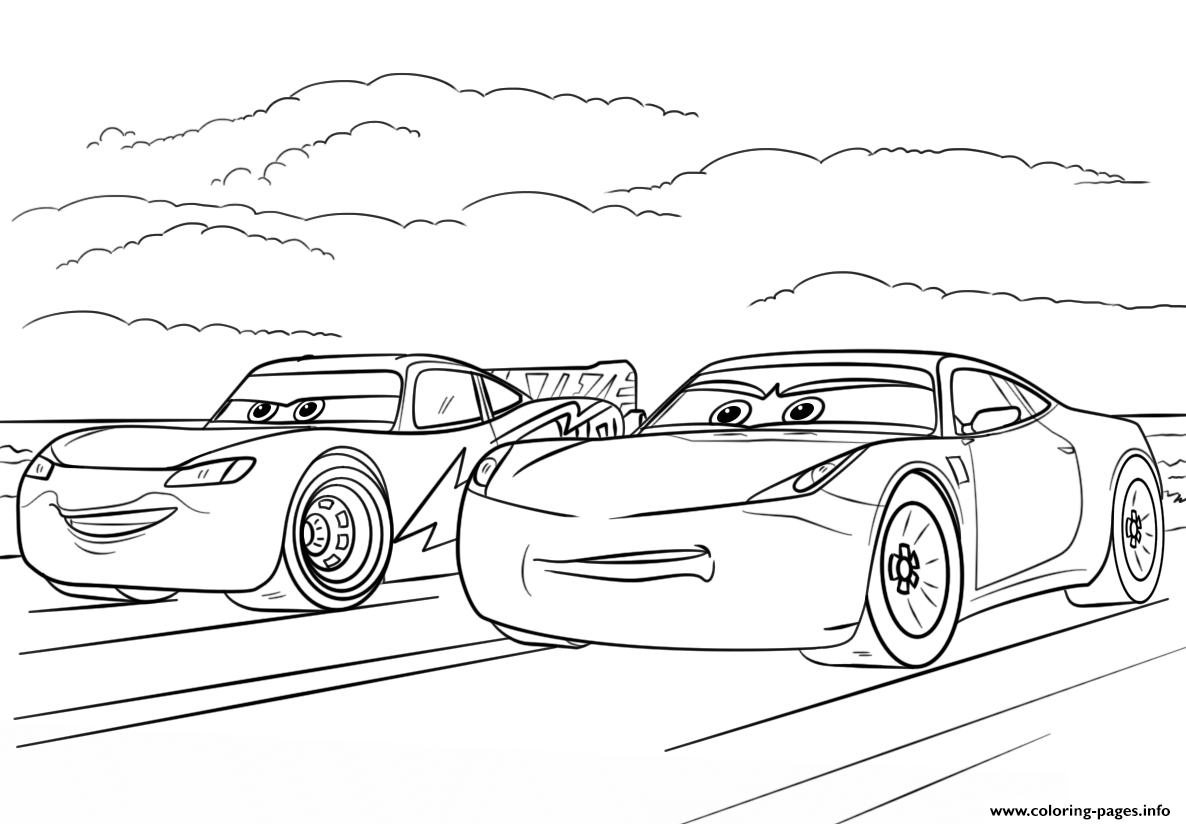 minecraft printable coloring pages - mcqueen and ramirez from cars 3 disney printable coloring pages book