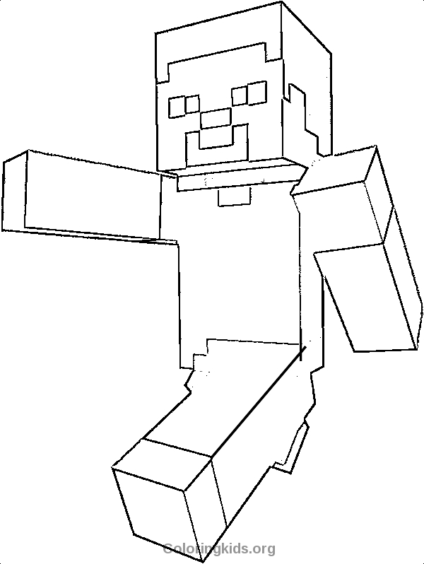 minecraft steve coloring pages - steve minecraft