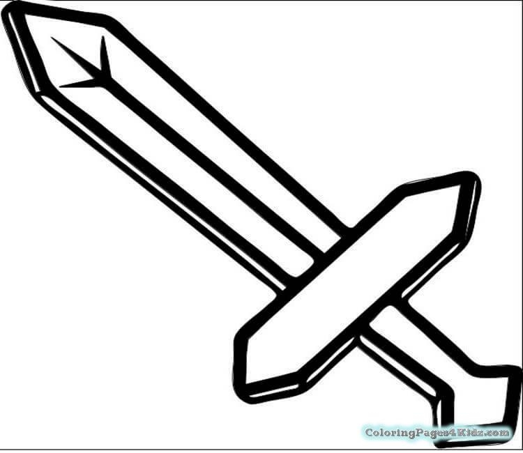 minecraft sword coloring pages - minecraft coloring pages free 17