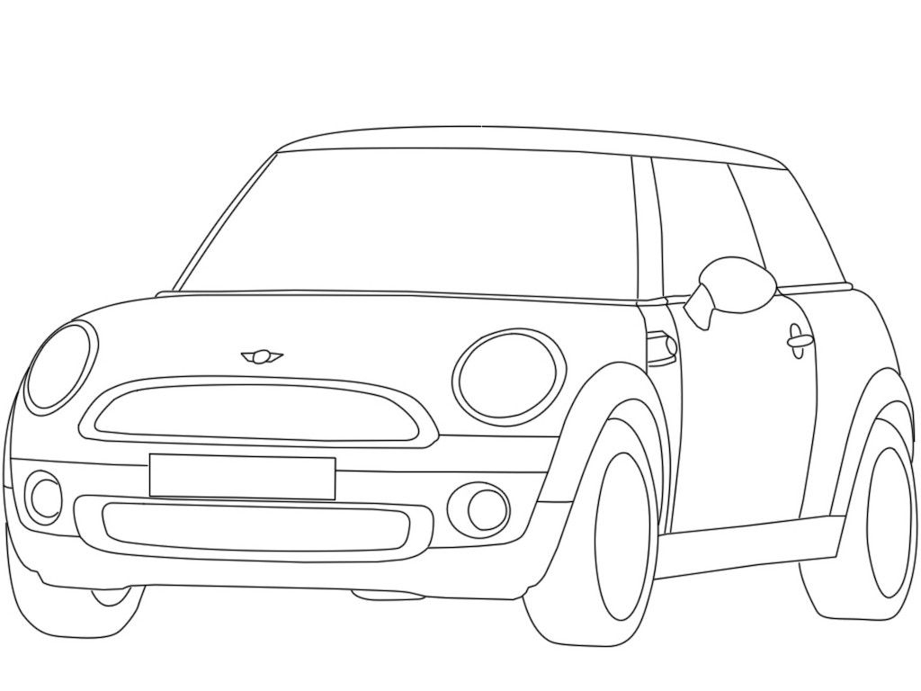 mini coloring pages - mini cooper coloring pages