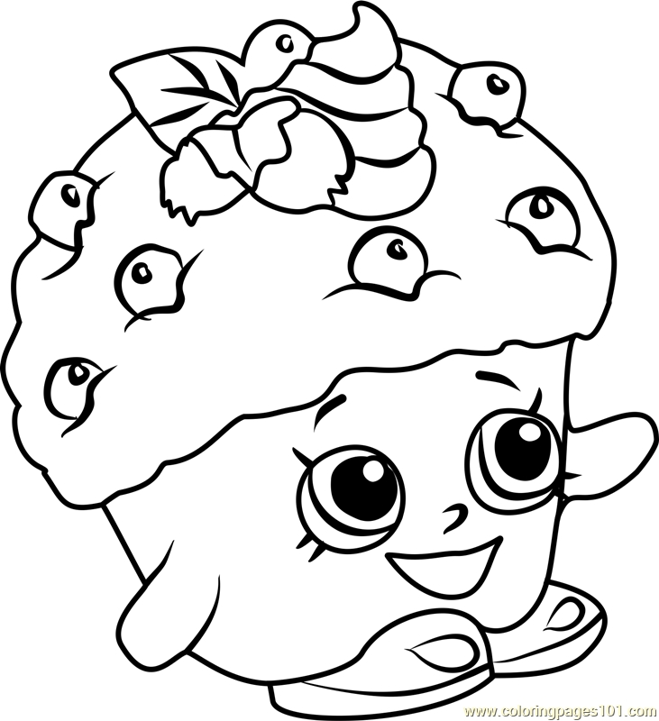 mini coloring pages - mini muffin shopkins coloring page