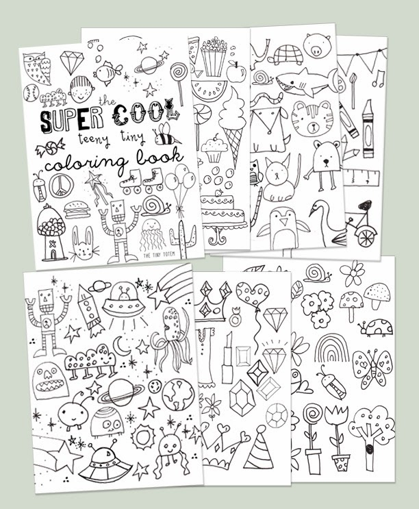 Mini Coloring Pages - Printable Mini Coloring Book
