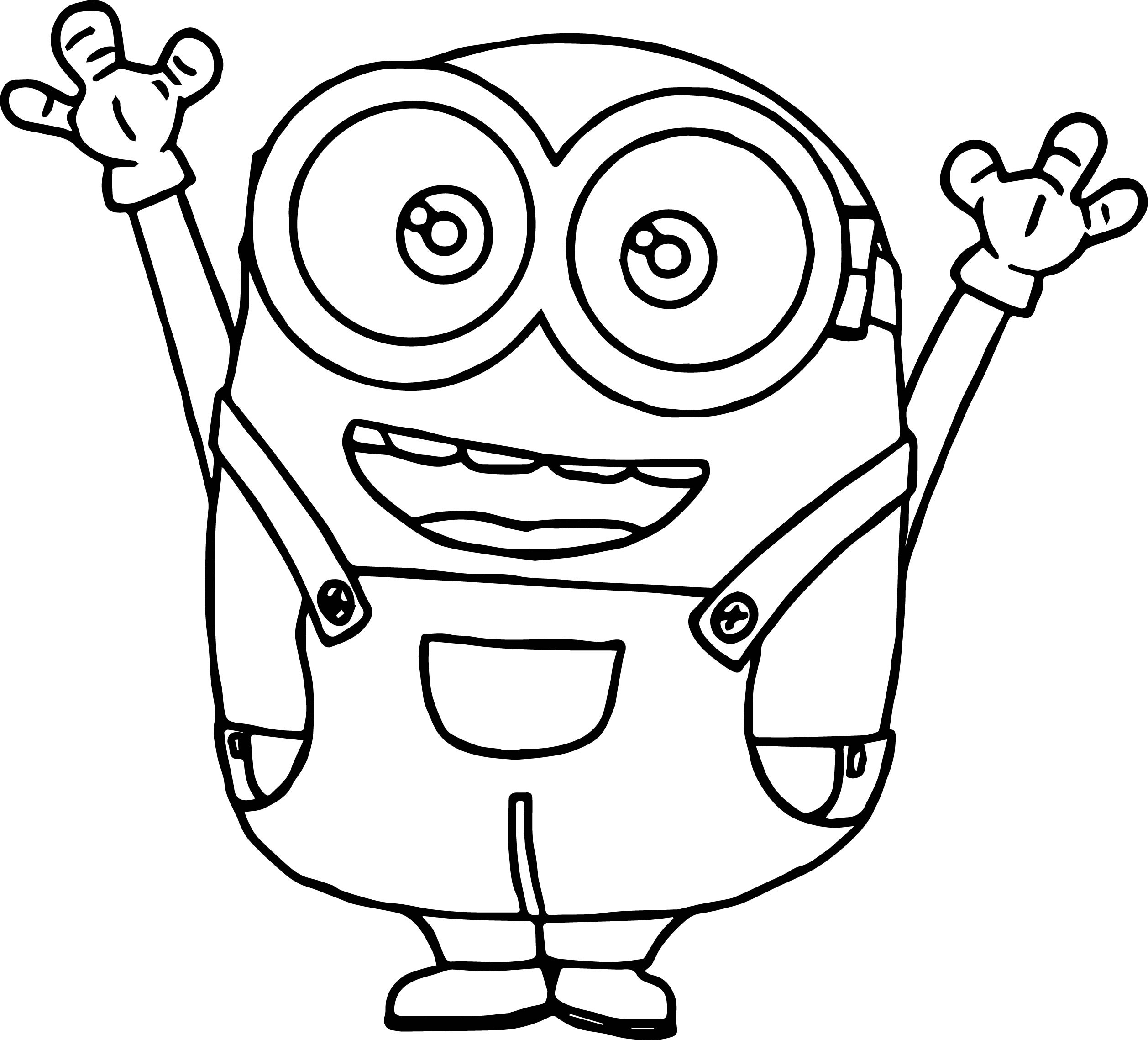 Minion Coloring Pages Bob