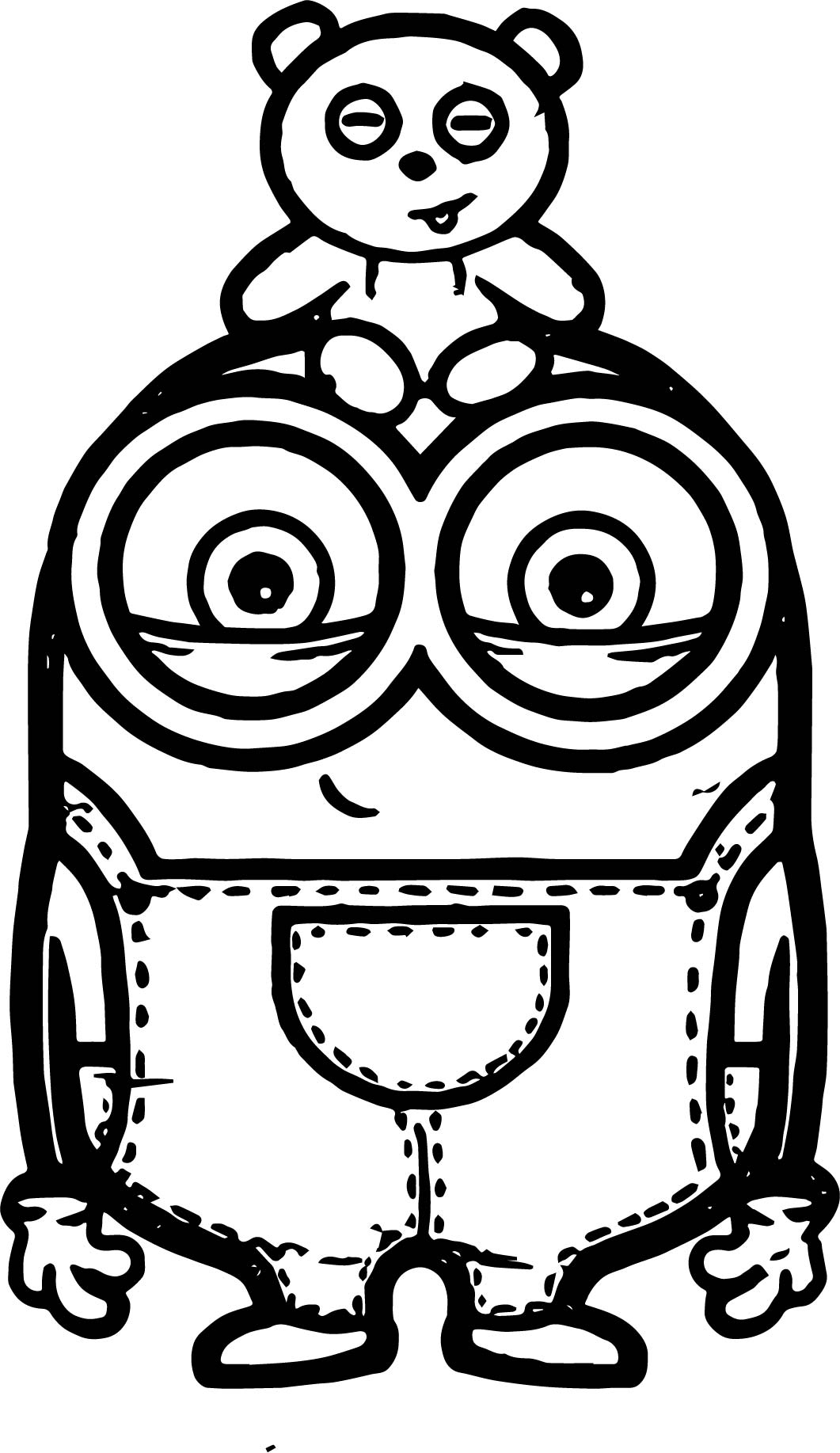 Awesome Minion Coloring Pages Bob   Minion Bob Bear Toy Coloring Page