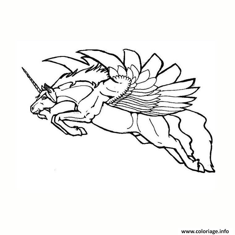 minion coloring pages - licorne ailee coloriage