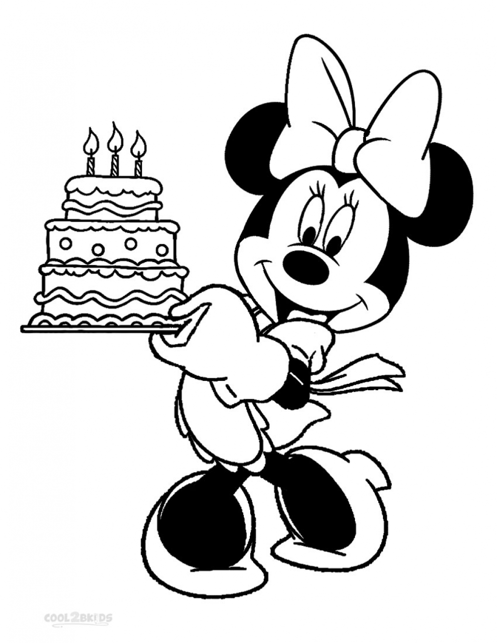 minnie mouse coloring pages - free disney minnie mouse coloring pages