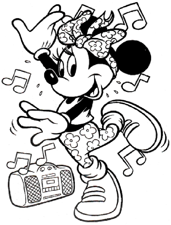 minnie mouse coloring pages - minnie mouse coloring pages