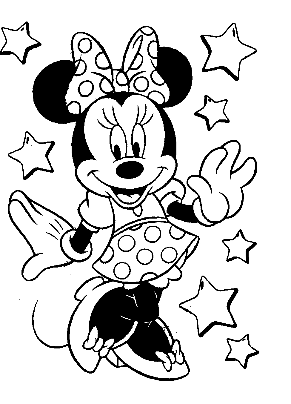 minnie mouse coloring pages - minnie mouse coloring pages to print