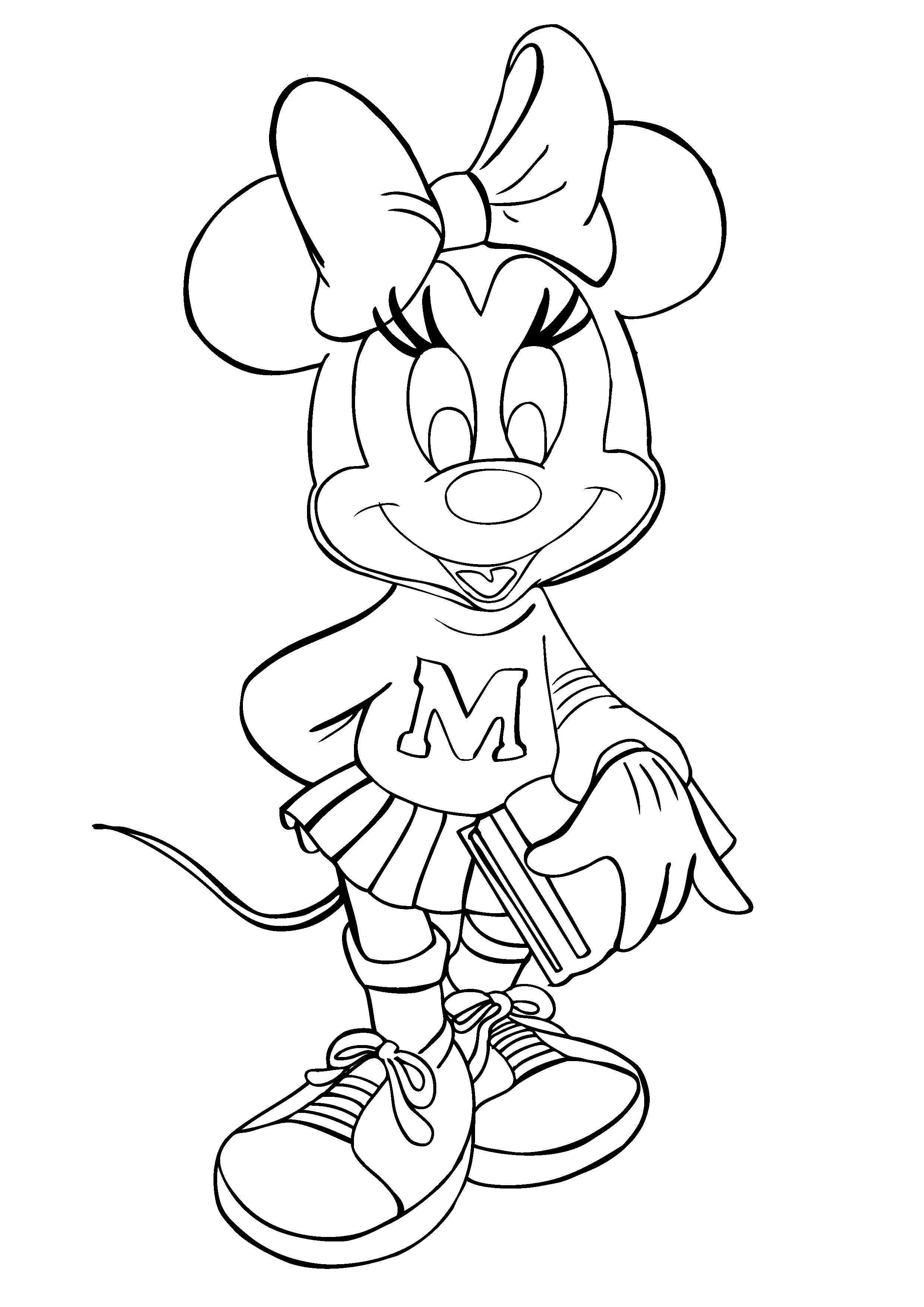 minnie mouse printable coloring pages - minnie mouse coloring pages