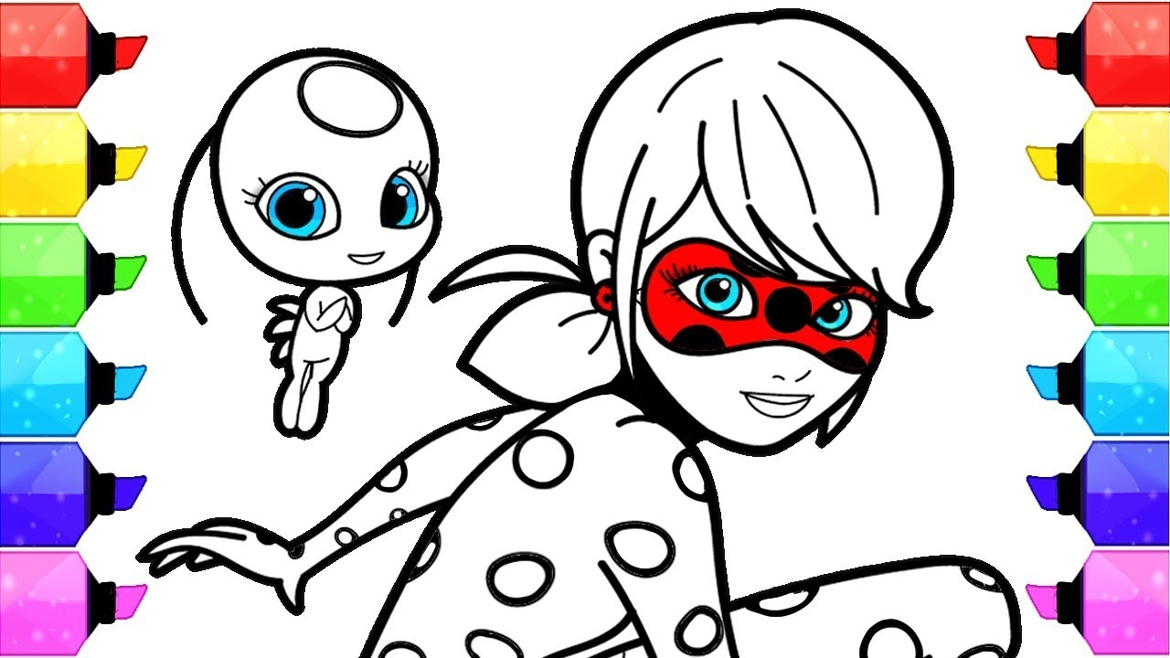 miraculous ladybug coloring pages - watch v=4R7sScvQr6U
